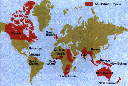 Map Of Victorian England.The British Empire